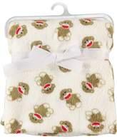 Baby Starters Baby Sock Monkey ~ Plush Baby Blanket
