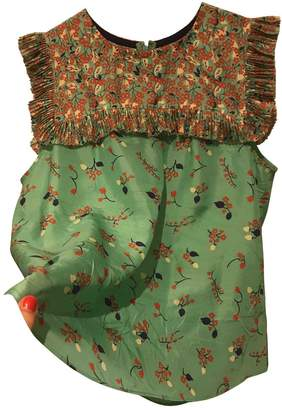 Manoush Green Silk Top for Women