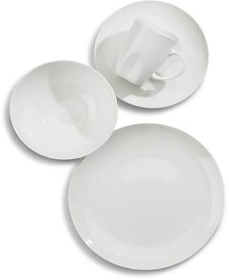 Glucksteinhome 16-Piece Quincy Coupe Bone China Dinnerware Set