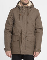 Element Sand Roghan Sherpa Lined Waxed Parka