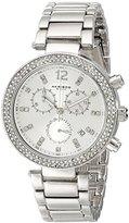 Akribos XXIV Women's AK529SS Diamond and Crystal Accented Swiss Quartz Chronograph Watch