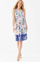 J. Jill Pleated Floral Dress