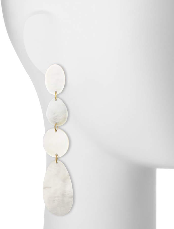 Viktoria Hayman Mother-of-Pearl Disc Drop Earrings