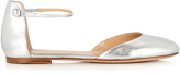Gianvito Rossi Ankle-strap leather flats