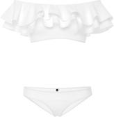Lisa Marie Fernandez Mira Ruffled Off-The-Shoulder Bikini