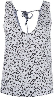 Ganni Floral-Print Sleeveless Top