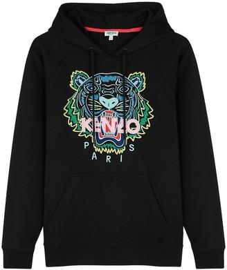 Kenzo Tiger-embroidered Hooded Cotton Sweatshirt