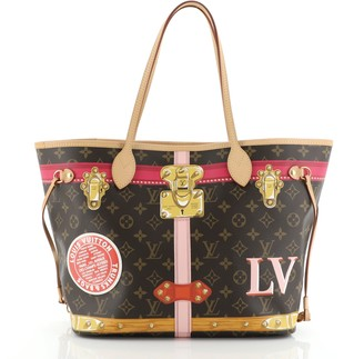 Louis Vuitton Neverfull NM Tote Limited Edition Summer Trunks Monogram Canvas MM