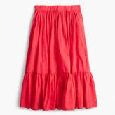 J.Crew Petite clip-dot tiered skirt