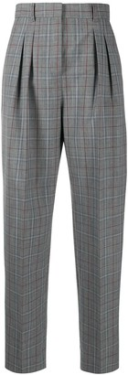 Tory Burch Plaid Wool-Blend Trousers