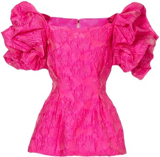 Bambah ruffled tunic blouse