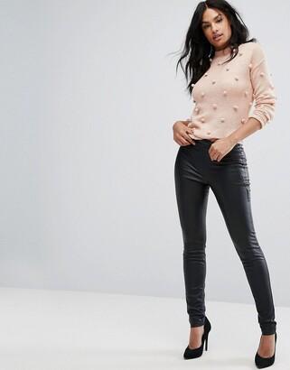 Vero Moda faux leather stretch pants