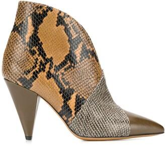 Isabel Marant snakeskin pattern boots