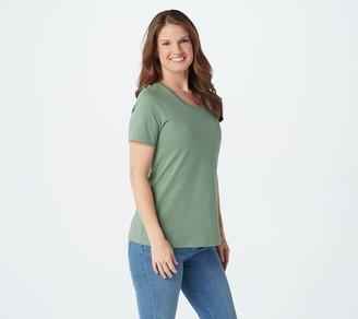 Isaac Mizrahi Live! Essentials Pima Cotton Scoop Neck T-Shirt