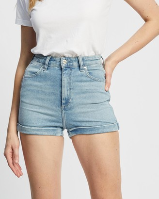 Wrangler Women's Blue Denim - Pin Up Shorts - Size 6 at The Iconic