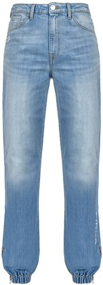 Pinko Gathered Ankle Jeans