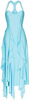 GmbH Asymmetric Ruffled Gown