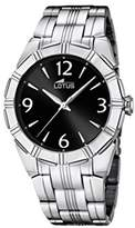 Lotus Women's Quartz Watch with Black Dial Analogue Display and Silver Stainless Steel Bracelet 15984/2