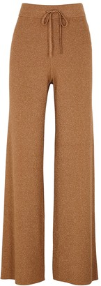 A.L.C. Quentin metallic-weave ribbed-knit trousers