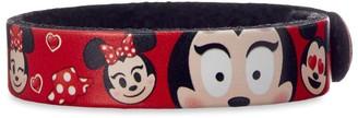 Disney Minnie Mouse Emoji Leather Bracelet Personalizable
