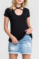 Lush Cross Neck Tee