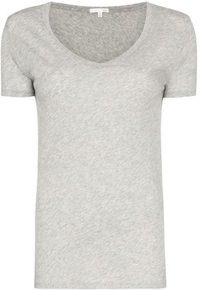Skin V-neck fitted T-shirt