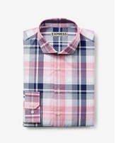 Express slim plaid dress shirt