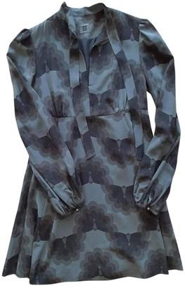 Orla Kiely Anthracite Silk Dress for Women