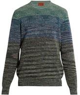 Missoni Crew-neck striped cotton-blend sweater