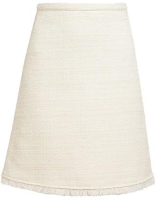 Giambattista Valli Tweed Stretch-Wool Pencil Skirt
