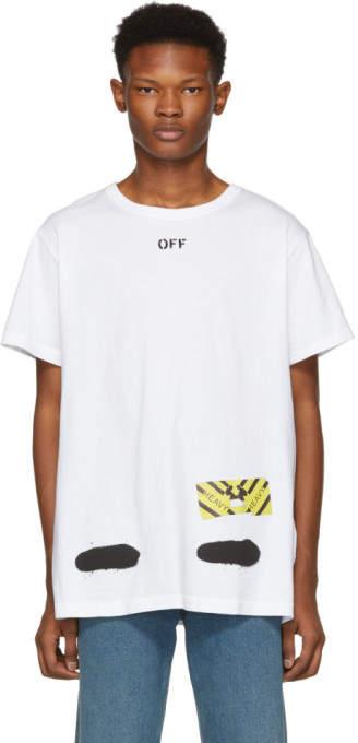 Off-White Off White White Spray Paint T-Shirt