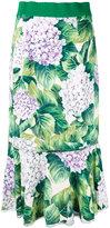 Dolce & Gabbana hydrangea print midi skirt - women - Silk/Spandex/Elastane/Viscose - 44