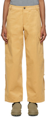 Jacquemus Yellow Le Pantalon Quadri Cargo Trousers