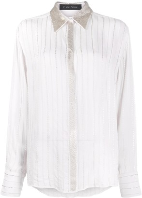 Christian Pellizzari Beaded Long-Sleeved Shirt