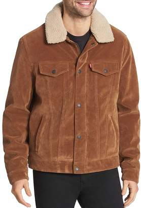 Levi's Sherpa-Lined Faux-Suede Classic Trucker Jacket