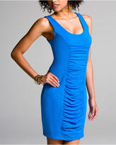 Luxe Stretch Ruched Tank Dress