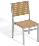 Oxford Garden Aluminum Frame, Natural Tekwood Seat Travira Side Chair (Set of 2)