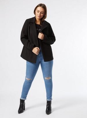 Dorothy Perkins Womens Dp Curve Black Patch Pocket Coat, Black