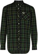 Fred Perry logo embroidered tartan shirt