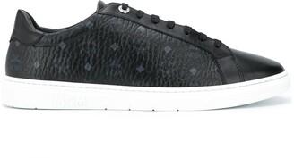 MCM Monogram-Print Low-Top Sneakers