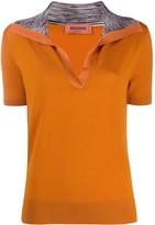 Missoni Short Sleeve Open Collar Top