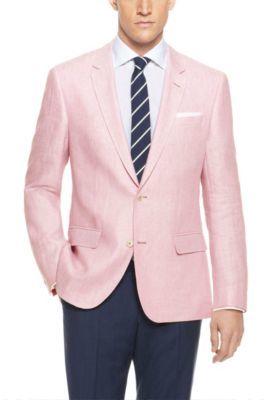 HUGO BOSS 'Hutsons' - Slim Fit, Linen Herringbone Sport Coat