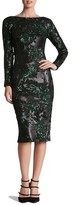 Dress the Population Women's 'Emery' Scoop Back Two-Tone Sequin Sheath Dress