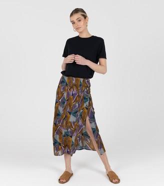 New Look Zibi London Geometric Split Midi Skirt