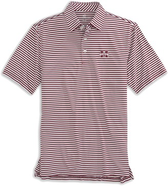 Southern Tide Mississippi State Bulldogs Striped Polo Shirt
