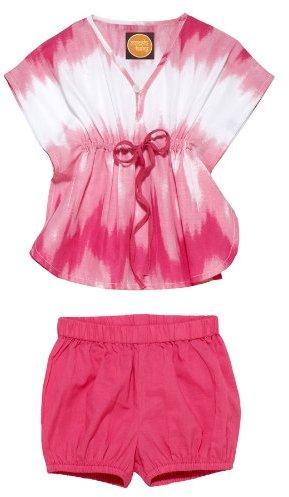 Masala Baby Girls Newborn Om Caftan Tie-Dye 2 Piece Set with Gift Box