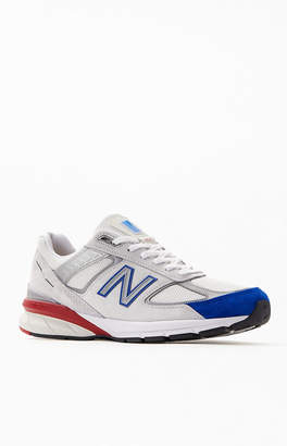 New Balance White & Red 990v4 Made in US Shoes