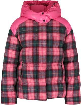 Moncler Fucshia Girl Bomber Jacket With Iconic Patch