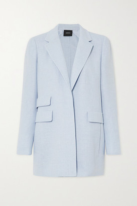 Akris Gereon Linen And Wool-blend Blazer - Blue