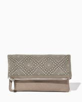 Charming charlie Studded Illusion Foldover Clutch